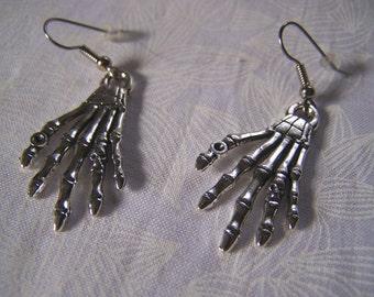 Skeleton Hand Earrings Halloween