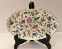 Fabulous Haddon Hall Oval Tray by Minton • Bone China • Made in England • Lovely Chintz Design