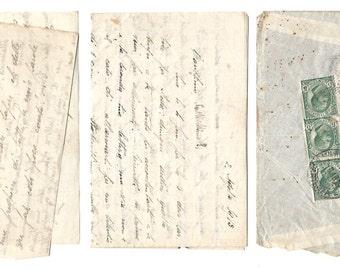 1913 Italian FULL LETTER - Handwritten paper ephemera from Italy