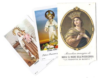 3 Vintage RELIGIOUS CALENDARS from Italy and Spain