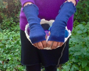 Upcycled Cashmere Fingerless Arm Warmers
