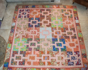 SALE  Bed quilt- Keyhole, full sized