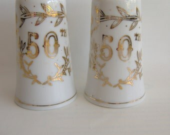 50th Anniversary Salt and Pepper Shakers