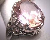 Antique Ametrine Ring Wedding Victorian Art Deco Filigree c1920