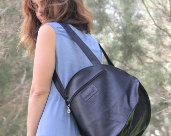 Summer SALE, Women Backpack, Vegan Handbag, unique design, black backpack bag, Light weight, work bag, everyday bag