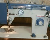WHITE Model 167 Sewing Machine with Foot Pedal and Instruction Manual Recently Serviced