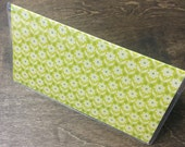 Green Floral Pattern Vinyl Checkbook Cover by Whitewashed Comfort
