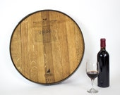"LAZY SUSAN - ""Wine Barrel Head""  - Hungarian Oak 100% recycled"