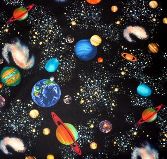 Planet fabric universe fabric sewing material quilting fabric for Universe fabric