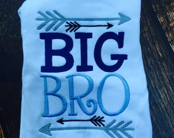 Big Bro Announcement Shirt, Big Brother Arrow Shirt, Big Brother Announcement, Sibling Arrow Shirt, In Style Sibling Shirt, Big Bro Present