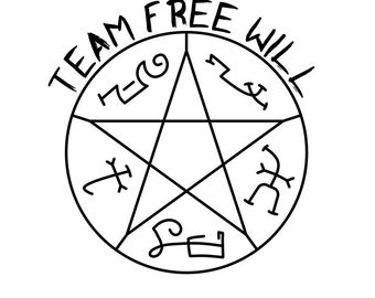 Team Free Will Devil's Trap - Vinyl Decal Sticker