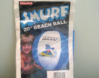Vintage Smurf Beach Ball Never Opened