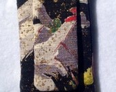 Cell phone case with flap