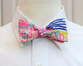 Lilly Bow Tie in multi color Roar of the Seas (self-tie)