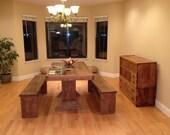 5 foot pedestal dining room set