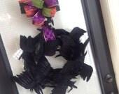 BIRDS! Poe-lease Nevermore! Halloween Wreath