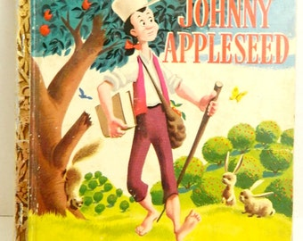 Vintage 1940's Disney Little Golden Book Johnny Appleseed SOLD AS IS