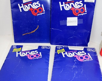 Vintage Hanes too control top pantyhose lot of 4 size AB NIP