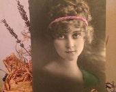 Antique Photo Postcard - Beautiful Woman - Portrait
