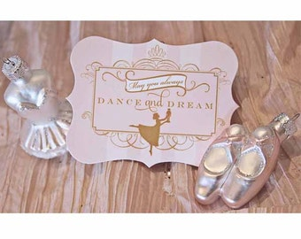 Sugar Plum Fairy Luxe Shaped Favor Tags by Loralee Lewis