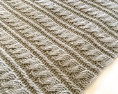 Crochet Afghan Pattern, The Gray Skies Afghan Pattern, Crochet Pattern, Crochet Afghan Pattern, Cabled Afghan Pattern, Blanket Pattern