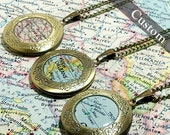 CUSTOM Map Locket. You Select Location. Anywhere In The World. One Locket. Map Necklace. Map Jewelry. Personalized Gift Ideas.