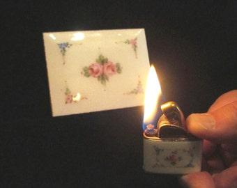 Vintage Guilloche Evans Cigarette Case And Lighter 1950s Floral Design Case Fits 100's Excellent Working Condition