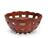 Red Embers Basket Bowl