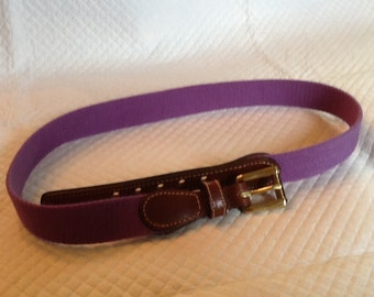 Vintage NOS DOONEY and BOURKE Purple Belt Leather and Brass Trim Size 28