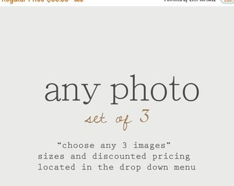 CHRISTMAS in JULY SALE Discounted Set Customize Any Set of 3 Photos