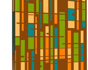 Mid Century Modern Wall Art, Mod Wall Art, Modern Wall Art, Mid Century Modern Art, Geometric Wall Art. Modern Home Art, Wrapped Canvas