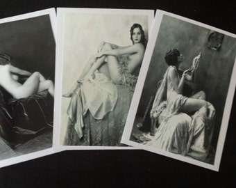 Ziegfeld follies card trio, Tilly Losch, Alice Wilke & Billy Dove