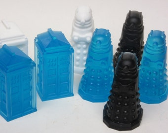 doctor who inspired soap tardis and dalek made to order glycerin soap