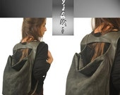 Canvas Backpack ,slouchy bag, everyday womens bag ,named Laoura ,made to order.