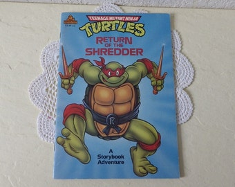 TMNT's Book: The Return of the Shredder, Softcover, 1990