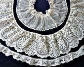 Lace Trim Ivory Bundle Destash 1980's Vintage Lot DD
