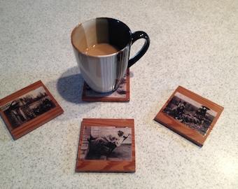 Old Photo Coffee Coaster - Set of 4