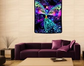 """Huge Tapestry, Reiki Angel Art Wall Hanging 40"""" x 50"""" """"Bubbles of Clearing"""""""