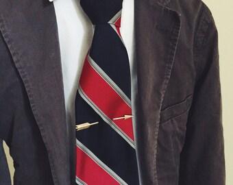 Vintage, 1950's, Tie Clip, Shooting Arrow, Tie Bar, Gold Tone, Fall Formal, Wedding Attire, Groom, Rockabilly,  Suit, Tie,