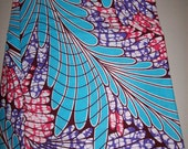 Feathered print African fabric per yard/ African head wraps/ African decor/ African clothing/ African accessories