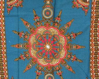 Deep Turquoise color dashiki fabric per panel/ Dashiki clothing/ Addis Ababa/ Dashiki Bags/ Kitenge fabric/ Java print