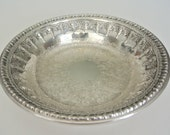 Vintage Reed and Barton silver plated bon bon dish or nut bowl, style 1302