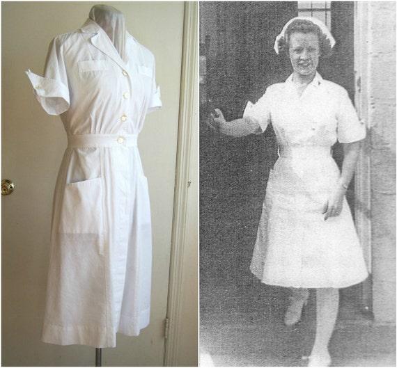 White Nursing Uniform Dresses 90