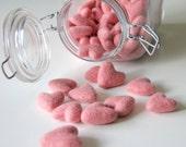 Felt Hearts- Pk of 10- Pink
