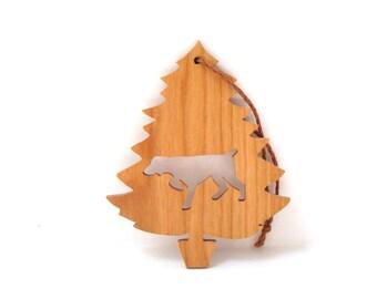 Pointer Ornament Christmas Tree Dog Ornament  Bird Hunting Dog Ornament Pet Ornament Dog Breed Ornament Cherry