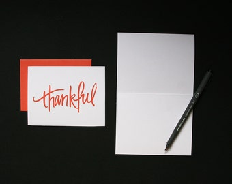 Thank You Card / Thankful / Simple + Modern / Minimal /