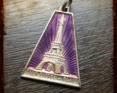 Vintage French Tower Eiffel enameled Medallion - Tower Eiffel Paris Monument Jewelry pendant from France