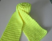 Fluorescent yellow scarf
