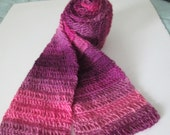 Pink and purple ombre super soft scarf