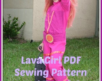 Lava Girl Costume Sewing Pattern Tutorial - PDF Instant Download